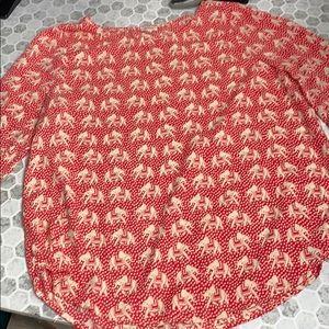 Pixley Medium Pink Elephant 3/4 Sleeve Blouse